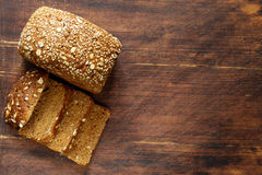 Rye wholemeal bread Royalty Free Stock Images