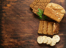 Rye wholemeal bread Stock Image