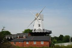 Rye Windmill. The traditional wooden smock windmill at Rye in East Sussex, England Stock Photos