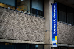 Ryerson University Sign, in Toronto, Ontario. Royalty Free Stock Image
