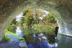 Ryford bridge in Spring on the Stroudwater, Thames and Severn Canal Royalty Free Stock Photos