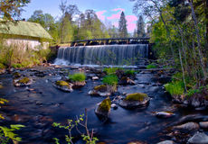 Ryfors waterfall Royalty Free Stock Images