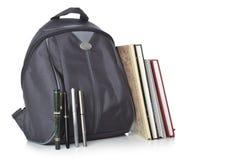 Ryggsäck och böcker Royaltyfria Foton