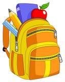 ryggsäckskola royaltyfri illustrationer