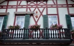 Ryglowi domy w sercu lucerna, Szwajcaria Obrazy Royalty Free
