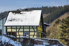 Ryglowy dom W Eifel, Niemcy Fotografia Stock