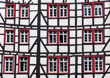 Ryglowy dom w Monschau, Niemcy Zdjęcie Royalty Free