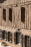 Ryglowy dom w Soreze wiosce, Francja Zdjęcie Stock