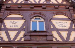 Ryglowy stary dom w Aalen, Niemcy Obraz Royalty Free