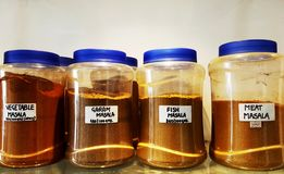 rykta indiska kryddor arkivbild