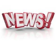 Rykte för rykte för skvaller för information om aktie för nyheternauppdateringvarning royaltyfri illustrationer