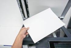 Rym papper för utskrift av dokumentet Royaltyfri Fotografi