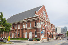 Ryman Auditorium. In downtown Nashville, Tennessee, formerly known as the Grand Ole Opry stock photo