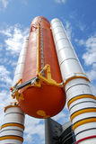 Rymdfärja Rocket Booster royaltyfria bilder