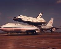 Rymdfärjautmanare, NASA, flyg Royaltyfri Bild