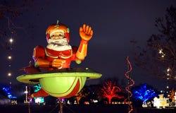 Rymdskepp Santa Claus Royaltyfri Bild