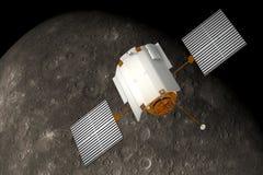 Rymdskeppbudbärare Orbiting Mercury. stock illustrationer
