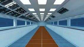 Rymdskeppinre, mittsikt med golvet Fotografering för Bildbyråer
