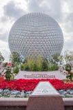 Rymdskeppjord, en symbol av Epcot Royaltyfria Foton
