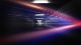 Rymdskeppkorridor Futuristisk tunnel med ljus Av tomt Sci Fi futuristiskt mörkt rum med ljus - blåa ljus fotografering för bildbyråer