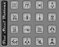 rymdskeppsymbolsuppsättning royaltyfri foto