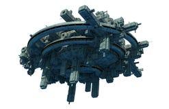 Rymdskeppufo vektor illustrationer