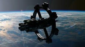 Rymdstation som kretsar kring Earth vektor illustrationer