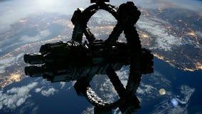 Rymdstation som kretsar kring Earth stock illustrationer