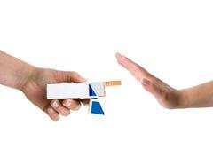 rymma för cigaretthänder Arkivbild