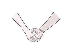rymma för händer vektor illustrationer