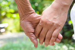 Rymma händer Arkivfoton