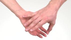 Rymma händer isolerade