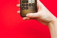 Rymma i för Apple Iphone X för hand ny smartphone flaggskepp Arkivfoton