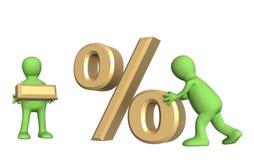 rymma negativ procentdockasymboler Royaltyfria Bilder