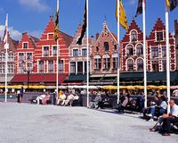 Rynek, Bruges Zdjęcia Royalty Free