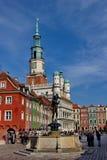Rynek de Stary - viejo cuadrado con los edificios coloridos restaurados y fuente, ciudad de Poznán, Polonia, 19 En septiembre de  Imagen de archivo libre de regalías