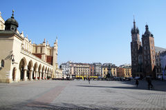 Rynek glowny. The rynek glowny, the main square of cracow in poland Stock Image