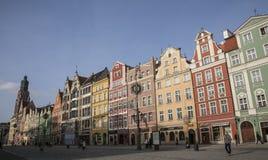 Rynek no Wroclaw, Poland Fotos de Stock