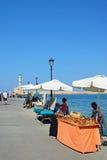 Rynek opóźnia w Chania schronieniu, Crete Obrazy Stock