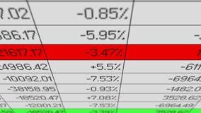 Rynek Papierów Wartościowych ceny dane odmienianie, elektroniczna kartoteka, tropi spreadsheet oprogramowanie ilustracja wektor