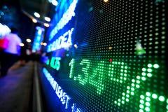 Rynek Papierów Wartościowych ceny pokaz zdjęcie stock
