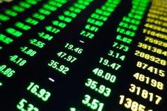 Rynek Papierów Wartościowych handlu ceny zieleni ekran zdjęcia royalty free