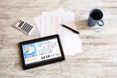 Rynek Papierów Wartościowych handluje app na pastylka pececie obrazy stock