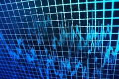 Rynek Papierów Wartościowych przytacza wykres zdjęcia stock