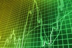 Rynek Papierów Wartościowych przytacza wykres obrazy stock