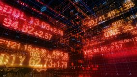 Rynek Papierów Wartościowych serpentyny - Cyfrowych dane pokazu tło ilustracja wektor