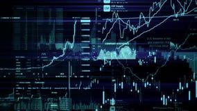 Rynek Papierów Wartościowych wskaźniki ruszają się w wirtualnej przestrzeni Wzrost gospodarczy, recesja ilustracja wektor