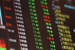 Rynek Papierów Wartościowych cena Obraz Stock