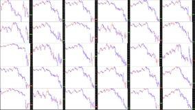 Rynek Papierów Wartościowych mapa downtrend Zdjęcia Royalty Free