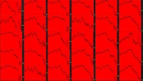 Rynek Papierów Wartościowych mapa downtrend Obrazy Stock